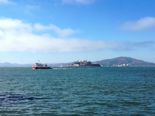 Alcatraz in de verte
