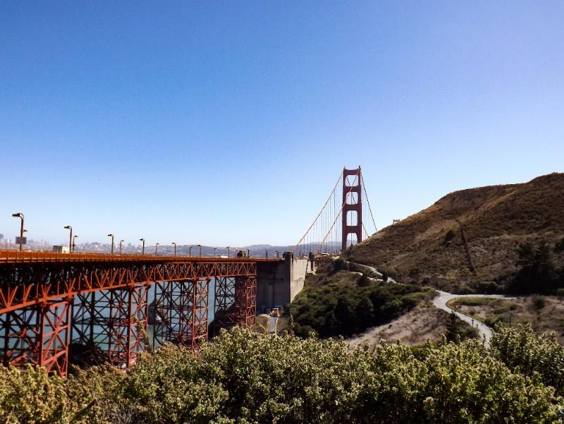 Einde van de Golden Gate Bridge