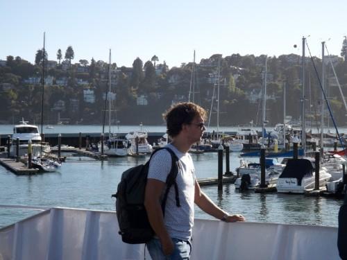 Robert op de ferry
