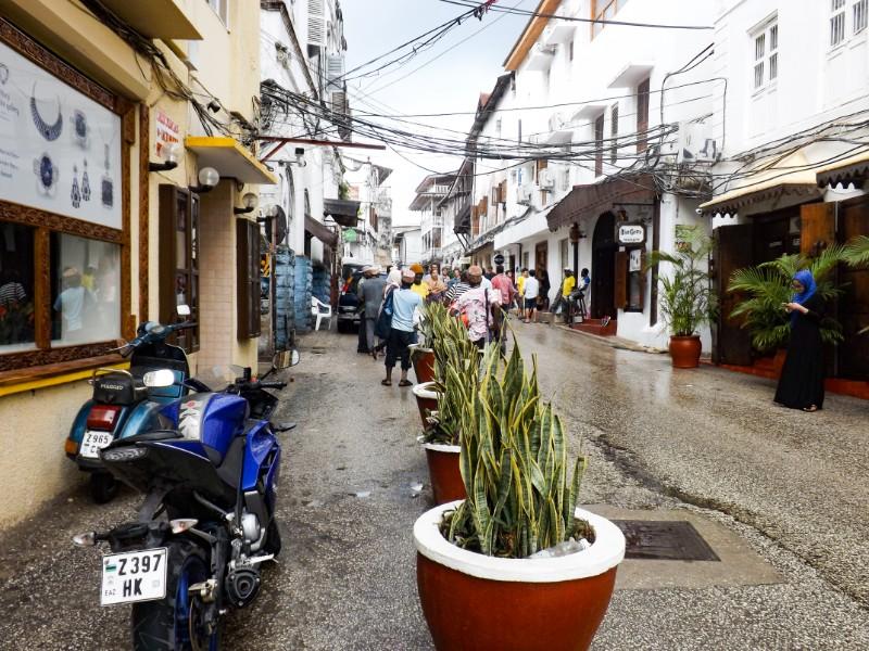 Een straat in Stone Town