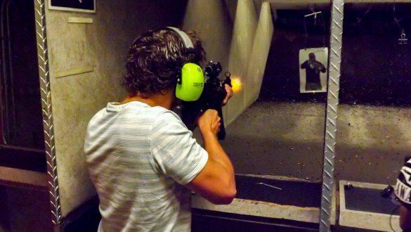 schieten op de schietbaan in las vegas