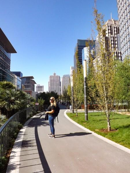 Annemarie in het Salesforce Park