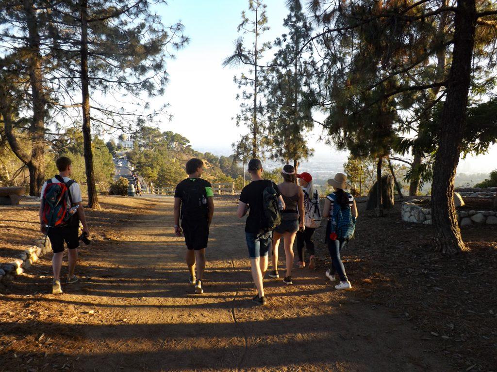 De deelnemers aan onze hike