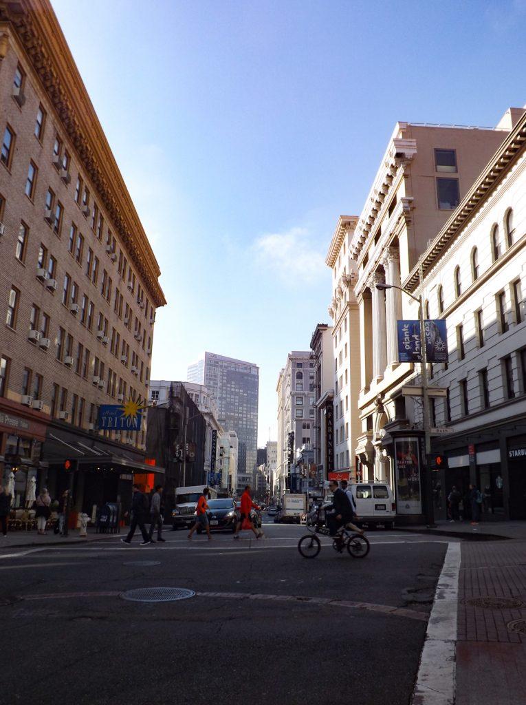 Een straat in San Francisco