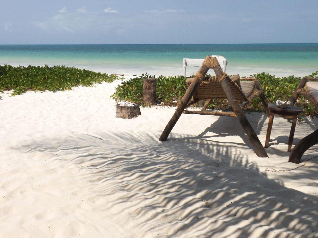 Het privéstrand van Sahari Zanzibar