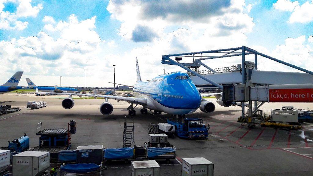 Ons vliegtuig naar Zanzibar