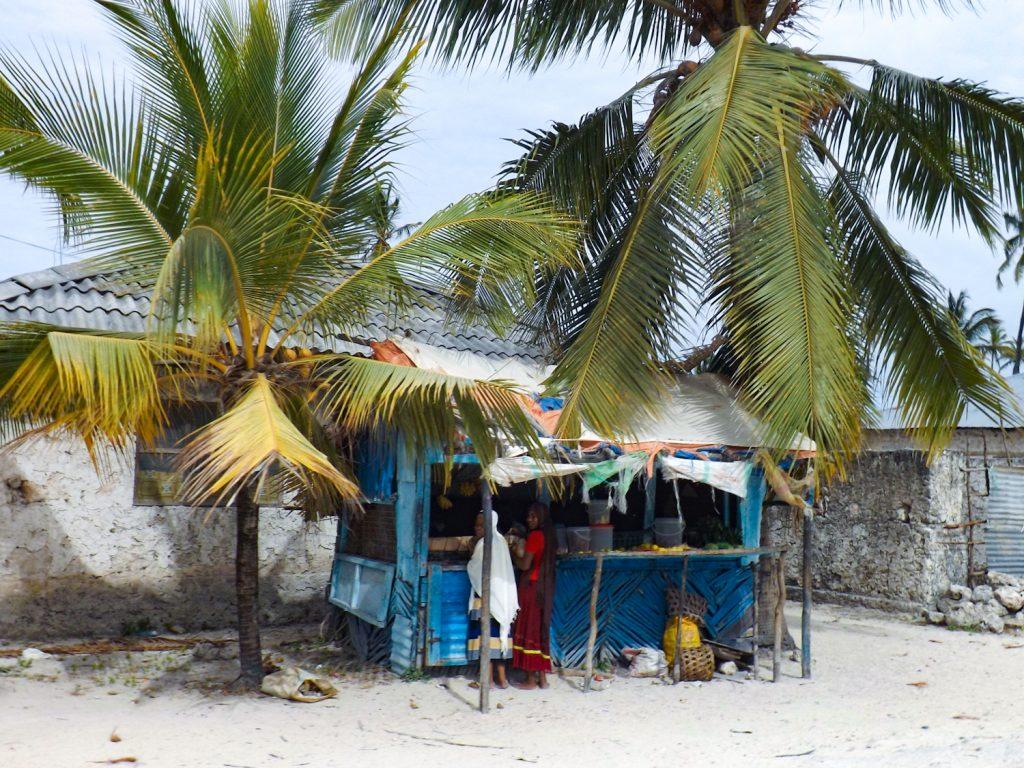 Een typische winkeltje in een vissersdorp op Zanzibar