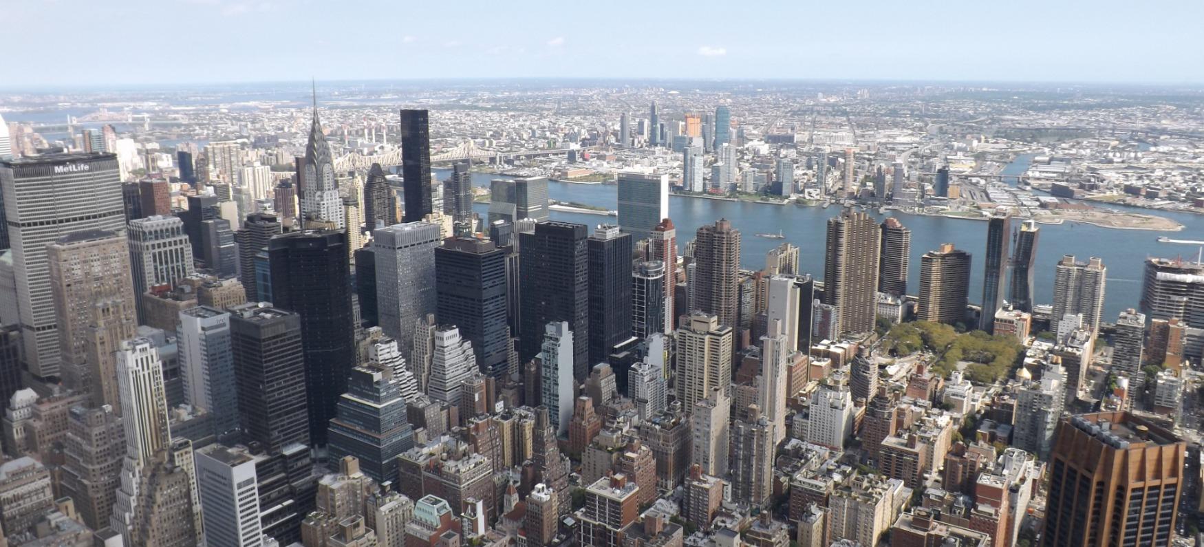Uitzicht over New York City vanaf de Empire State Building
