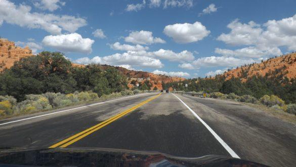 Een weg in Amerika